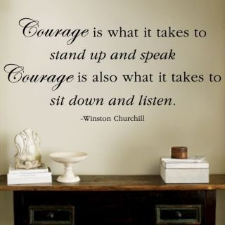 Winston Churchill Courage Quote Wall Decal