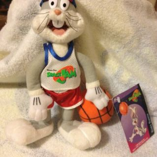 Bugs Bunny Miniature Stuffed Animal Space Jam With Basketball 1996