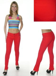 Super Stretch Red Skinny Jeans by Emperial Clothing
