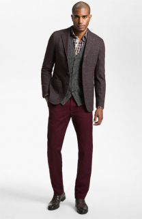 Hickey Freeman Sportcoat, Sport Shirt, Sweater Vest, & AG Jeans Chinos