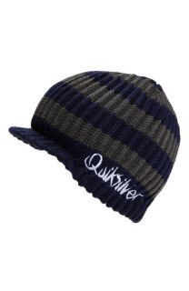 Quiksilver Treaty Stripe Visor Beanie (Big Boys)