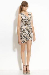 Myne Leopard Print Silk Dress