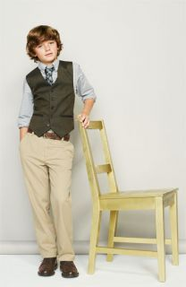 Dress Shirt & Vest (Big Boys)