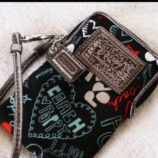 Coach Poppy Graffiti Heart Universal Cell Phone iPod Case