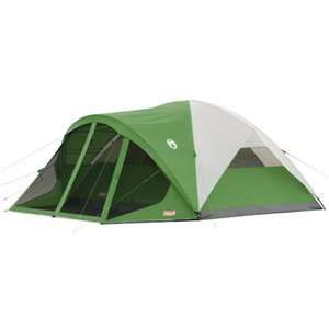 NEW! COLEMAN Camping Evanston 8 Person Family Screened Waterproof Tent