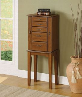 Brand New Coaster Furniture Jewelry Armoire Traditional Brown Finish