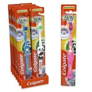 24 colgate kids 2 extra soft character toothbrushes