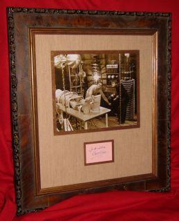 Colin Clive Autograph in Display Frankenstein Boris Karloff