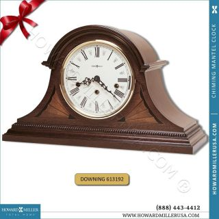 Wound Chiming Mahogany Mantel Clock Fireplace downing 613 192