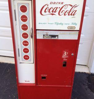 Vendo Straight Top 56 Embossed Coke Machine