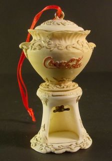 Coca Cola Urn Victorian Syrup Dispenser Coke Mini Ornament 3 Willitts