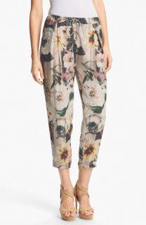 Haute Hippie Floral Print Drawstring Trousers