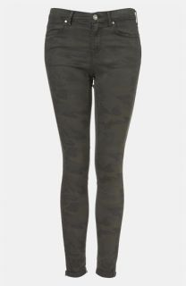 Topshop Moto Leigh Camo Skinny Jeans