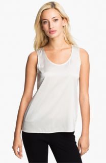 Eileen Fisher Stretch Silk Charmeuse Shell