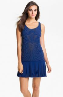 Vince Camuto Beaded Bodice Drop Waist Dress