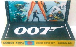 CORGI Toys Citroen 2CV Diecast Model Race Car & James Bond 007 Custom