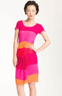 BCBGMAXAZRIA Stripe T Shirt Jersey Dress