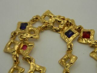 Vintage Signed Edouard Rambaud Gold Necklace Made in France