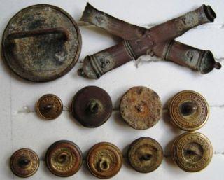Antique Vintage Buttons Military Buttons Civil War Era? Confederate