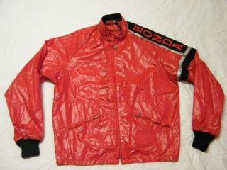 Vintage 1980s Hondaline Red Nylon Embroided Honda Motorcycle Jacket
