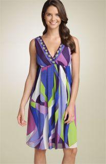 Donna Morgan Print Chiffon Dress