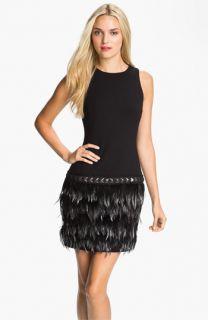 MICHAEL Michael Kors Feather Trim Dress
