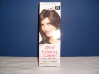 12 New Clairol Loving Care Hair Color Dark Brown 79