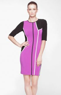 Marc New York by Andrew Marc Colorblock Jersey Sheath Dress