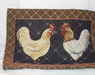 Rooster Chicken Placemats Country Farm Kitchen Tapestry Mat