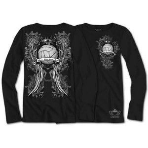 Long Sleeve Peace, Love, Volleyball Shirt Black Size S, M, L, XL