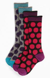 Mega Dot Knee High Socks (2 Pack) (Toddler, Little Girls & Big Girls)