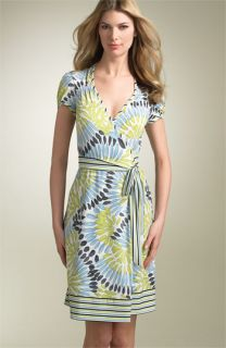 BCBGMAXAZRIA Print Matte Jersey Wrap Dress