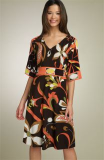 Donna Morgan Print Jersey Kimono Dress
