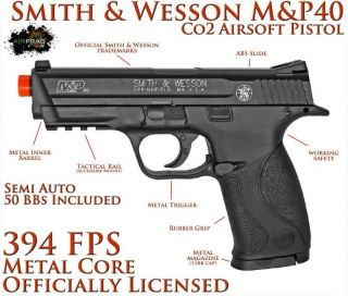 KWC Metal Core Mag Smith Wesson M P40 CO2 Airsoft Hand Gun Pistol 394