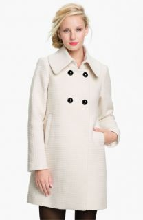 Trina Turk Textured Double Breasted Coat