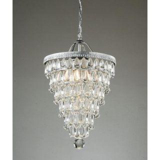 Clarissa Crystal Lighting Cone Silver Ceiling Chandelier Pendant Light