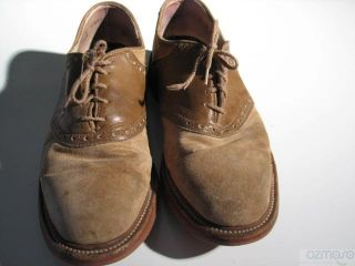 Vtg Colours Alexander Julian Saddle Oxford Mens Buck Shoe 8