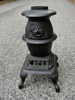 Tiny Pot Belly Stove Coal Wood E B Colby Conersy City NJ Decorative