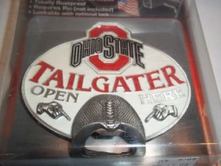 Metal Hitch Cover with Opener Tailgater College Sport Football