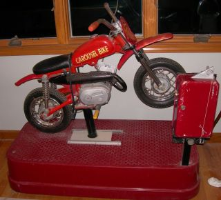 Coin Operated Motorcycle Carousel Dirt Bike Kiddie Ride