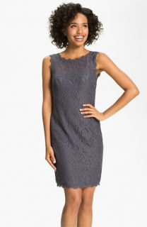 Adrianna Papell V Back Lace Sheath Dress