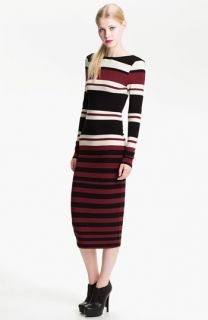 FELICITY & COCO Stripe Jersey Midi Dress ( Exclusive)