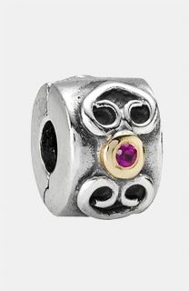 PANDORA Double Heart Stone Clip Charm