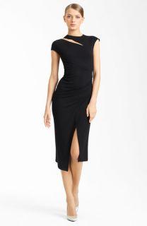 Donna Karan Collection Side Drape Jersey Dress