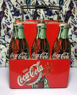 Coca Cola Six Pack Bottle Lunch Box with Cola Bottle Gummie Candy Free