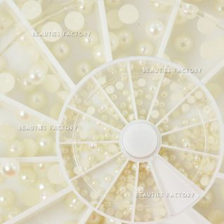 3mm Natural Cream Color Pro Nail Art Decoration 73D