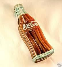 Coca Cola Bottle Coke Shaped Tin Metal New