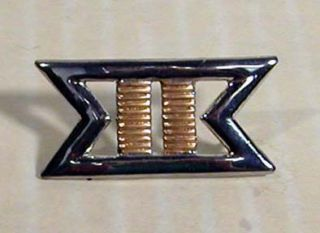 Star Trek Commander Movie Uniform Insignia Rank Pin 2 Gold Silver