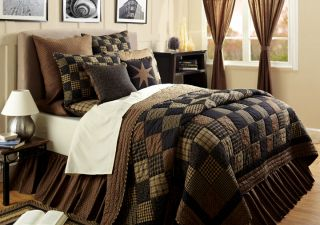 PC Colfax Queen Quilt Set Shams Bed Skirt Pillow Primitive Country