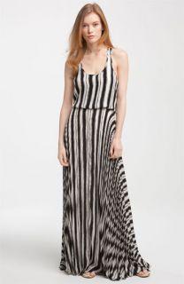 Parker Print Pleated Silk Maxi Dress